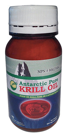 100% Pure Antarctic Krill Oil - 60 capsules