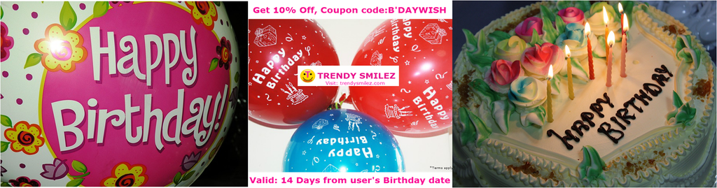 Trendy Smilez Friend's Birthday Coupon