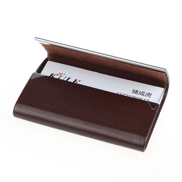 Leather Business Card Holder Case - Trendy Smilez