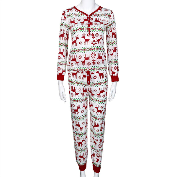 Woman Pajamas Set Deer Sleepwear - Trendy Smilez