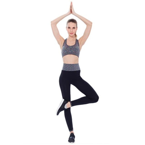 Women Athletic Gym Yoga Clothes Running Yoga Fitness Sports Suits Blue