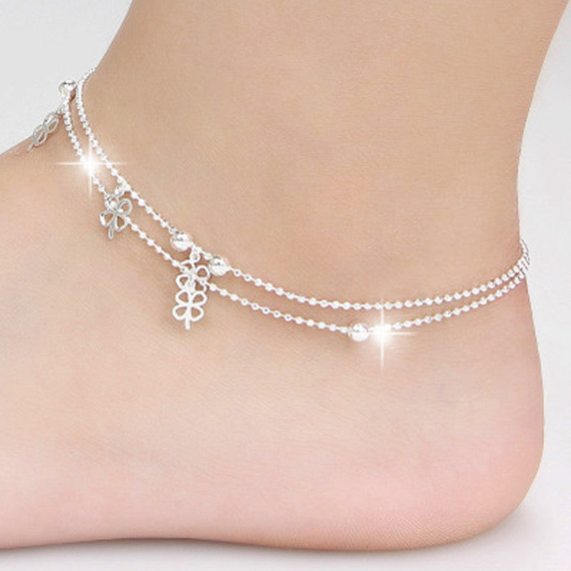 Four-Leaf Clover Ankle Bracelet Foot Jewelry - Trendy Smilez