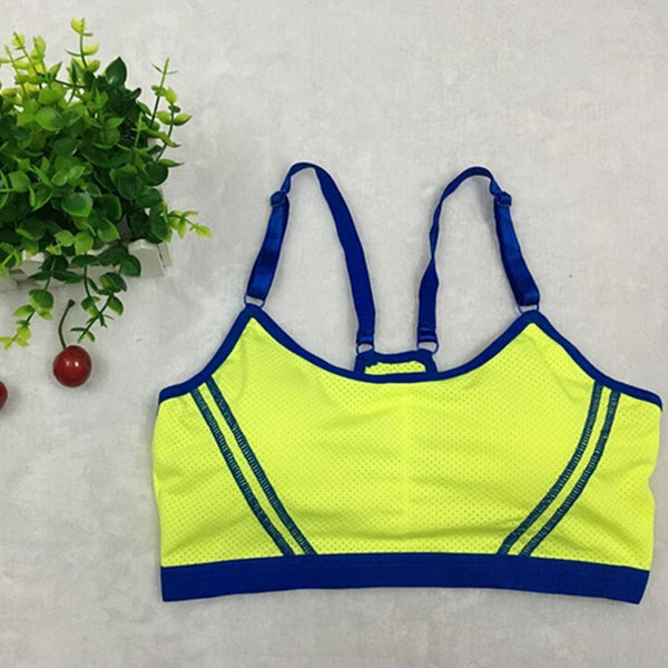 Women Lady Sports Yoga Athletic Solid Wrap Vest Tops Bra