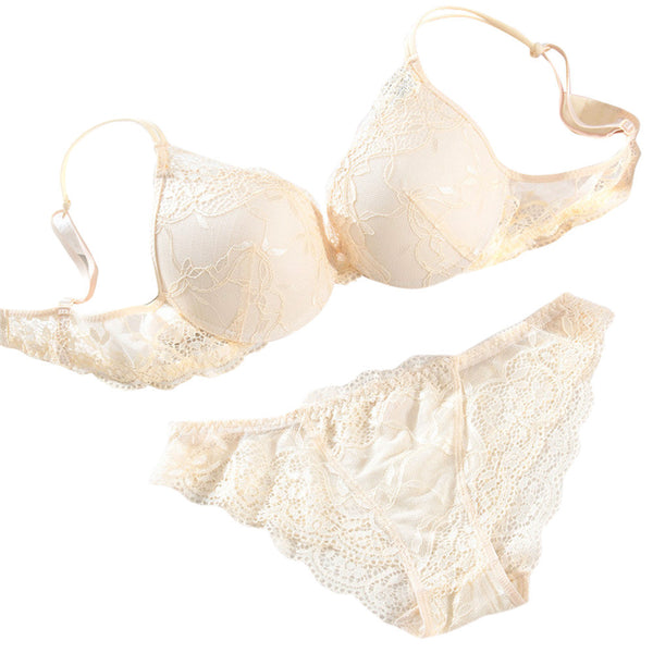 Women's Push Up Lace Padded Bra Set Embroidery Underwear BG/32A