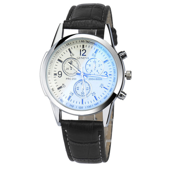 Luxury Faux Leather Mens Analog Watch Watches - Trendy Smilez