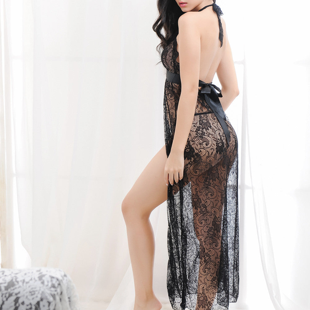 Lingerie Women Sexy Underwear Sleepwear Lace Dress G-string Set