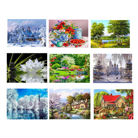 Embroidery Paintings Rhinestone Pasted DIY Diamond painting Cross Stitch - Trendy Smilez