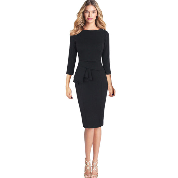 Women Work Party Sheath Dress - Trendy Smilez