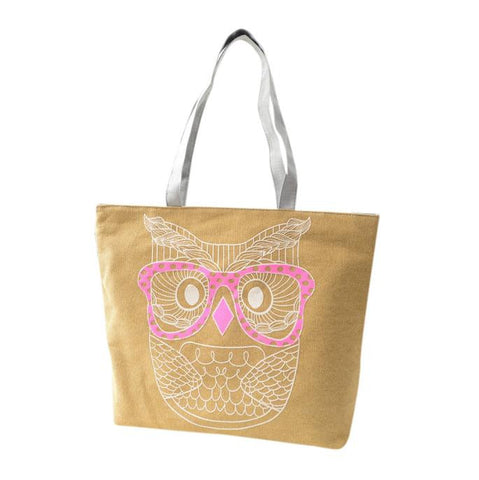 Fashion Lady Owl Shopping Handbag Shoulder Canvas Bag Tote Purse - Trendy Smilez