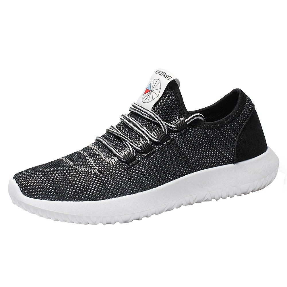 Men Mesh Round Breathable Flat Sneakers Running Shoes Casual Shoes - Trendy Smilez