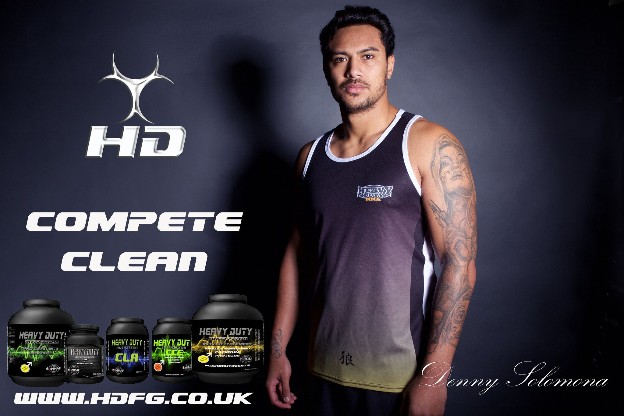 Get 10% Off Heavy Duty Nutrition with Denny Solomona