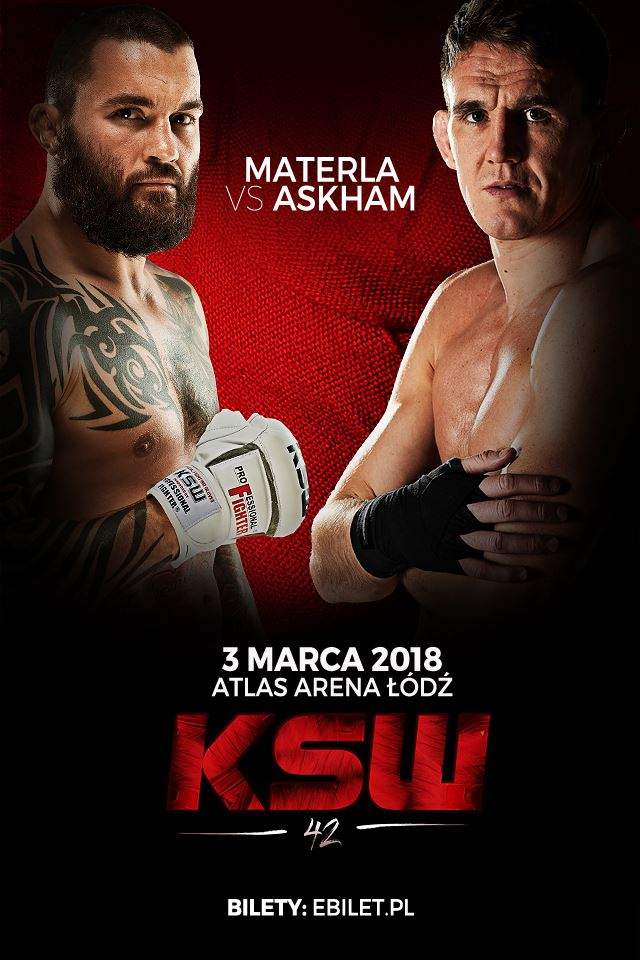 KSW 42 - Askham set to face Materla As He Works Towards Title Fight With Khalidov.