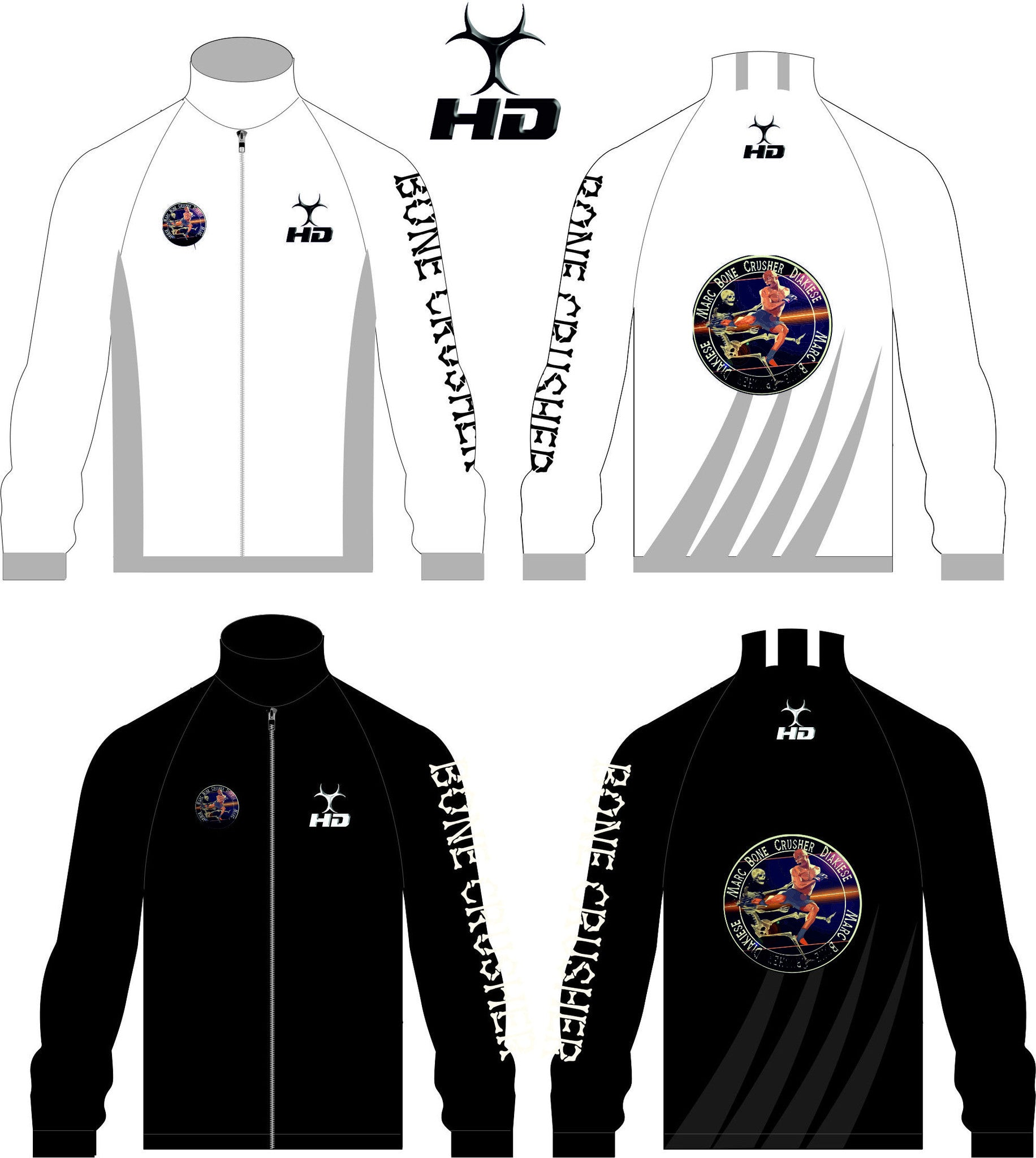 HD Sport Launch Official Marc 'Bonecrusher' Diakiese Limited Edition Tracksuit Top Only £49.99