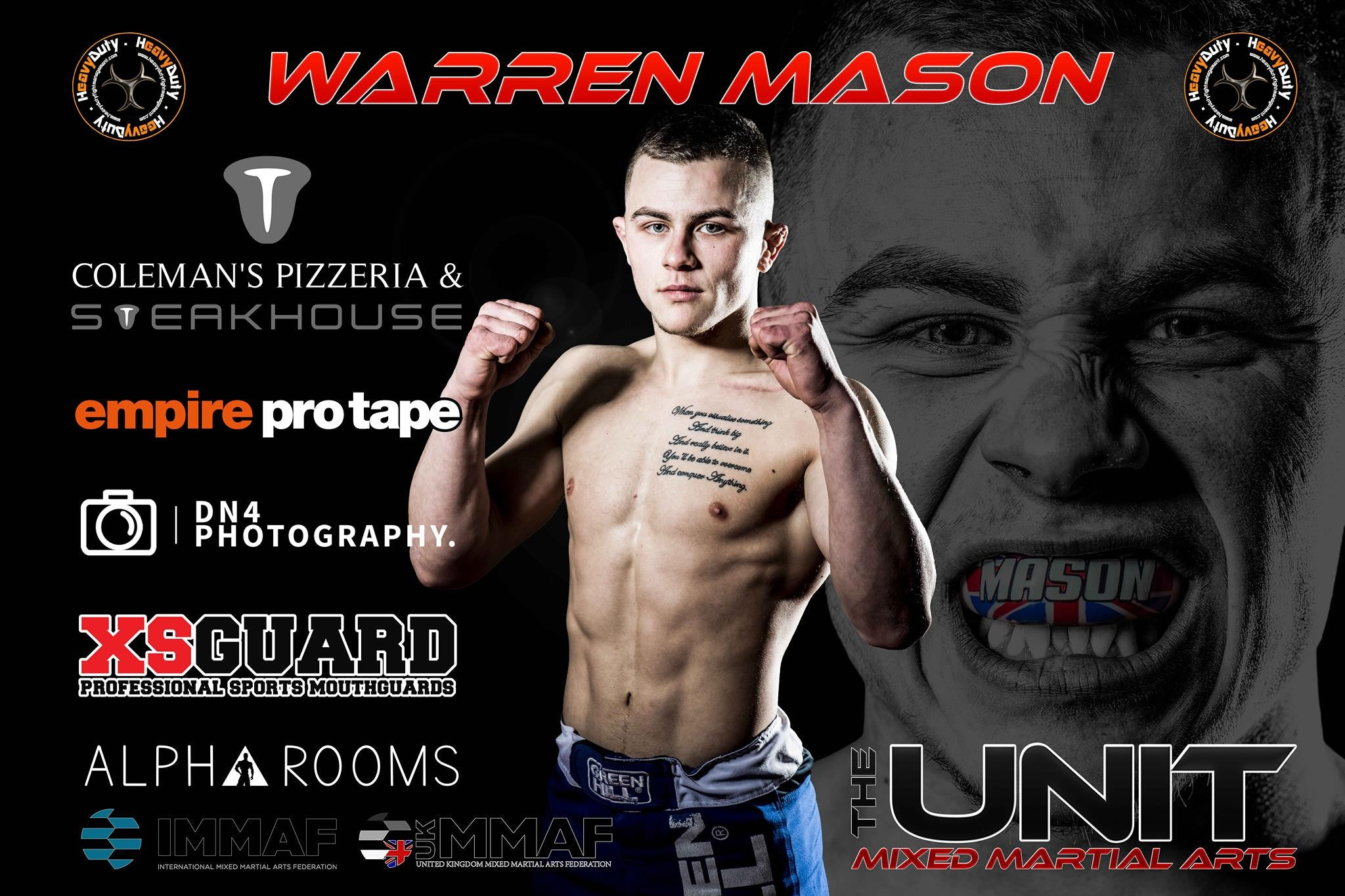 Fight Day For HD Fight Management & The Unit Athlete Warren 'Tank' Mason At UK Fighting Championships 3.