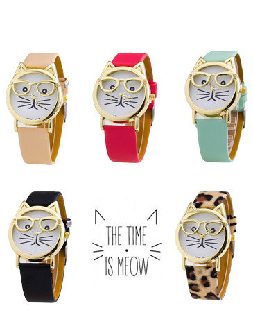 Time Is Meow Cat Watch