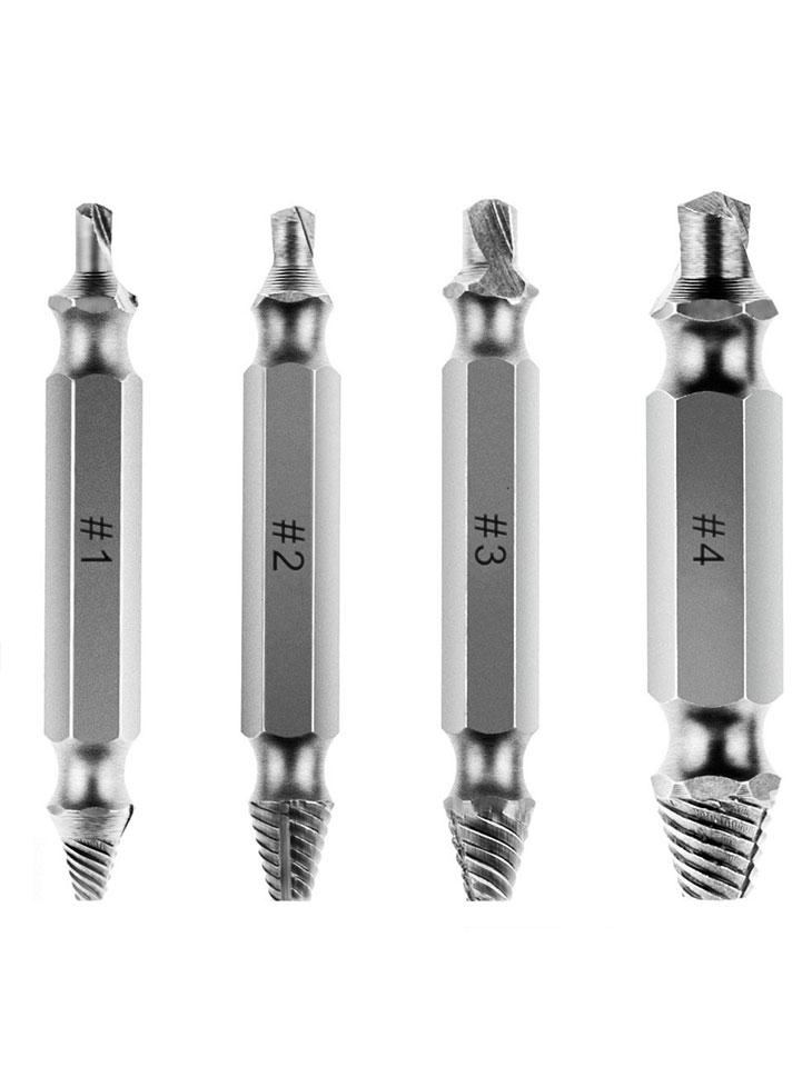 Screw Extractor Set - 4Pcs