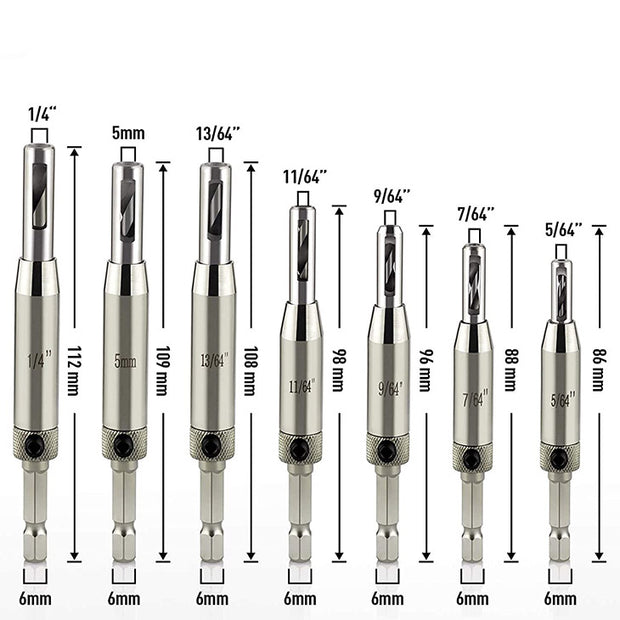 Self-Centering Drill Bits - 7pc