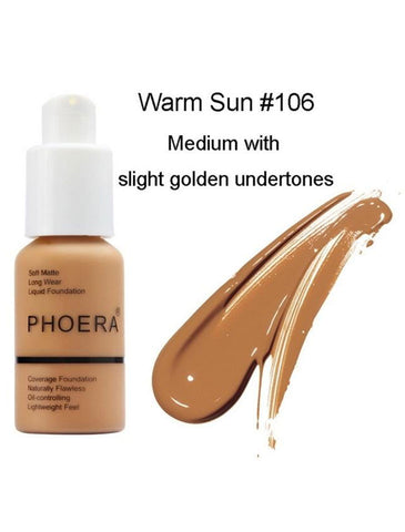PHOERA Soft Matte Full Coverage Liquid Foundation® - SAVE 50% TODAY