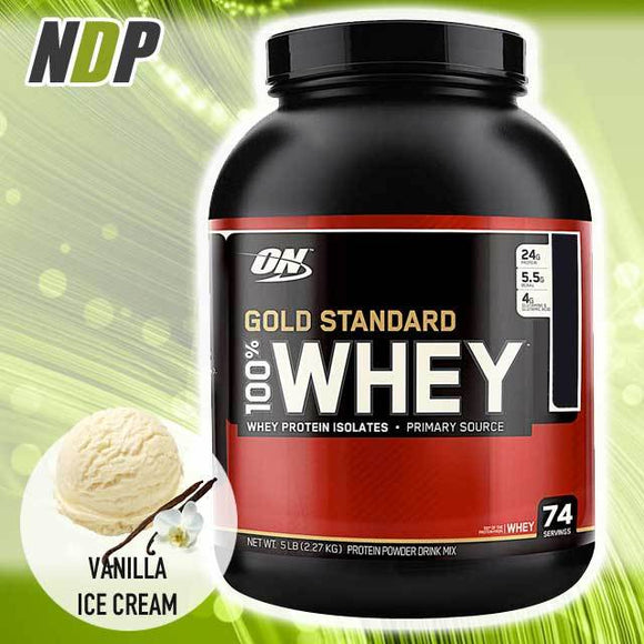 Optimum Nutrition /// Gold Standard Whey - Vanilla Ice Cream (5lbs)