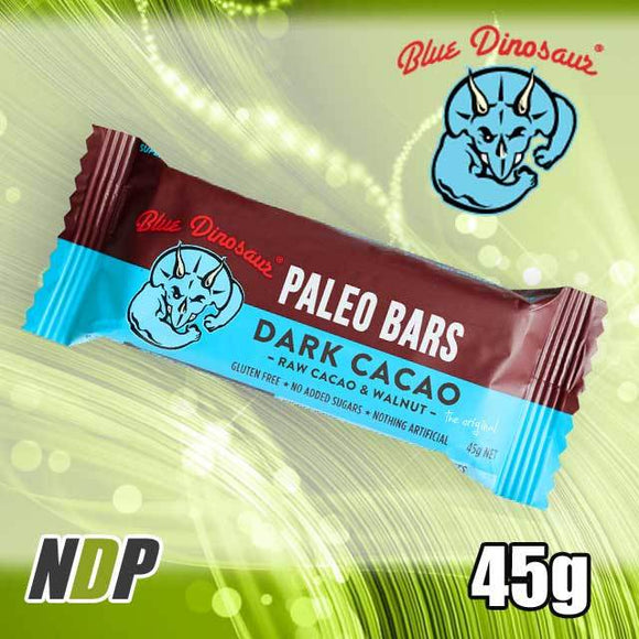 Dark Cacao /// Paleo Bar - Blue Dinosaur (45g)