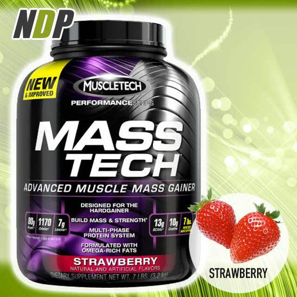 MuscleTech /// Mass Tech - Strawberry (7lbs)