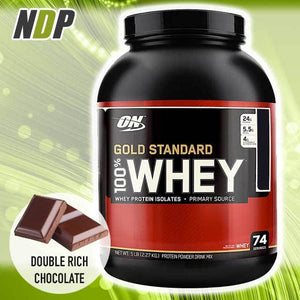 Optimum Nutrition /// Gold Standard Whey - Double Rich Choc (5lbs)