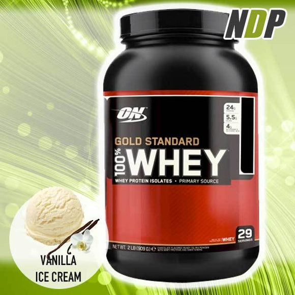 Optimum Nutrition /// Gold Standard Whey - Vanilla Ice Cream (2lbs)