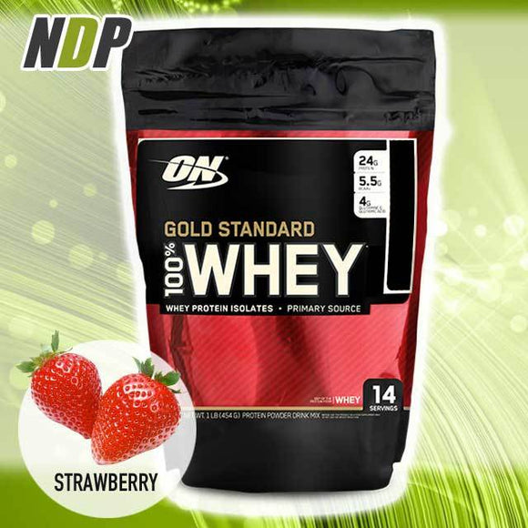 Optimum Nutrition /// Gold Standard Whey - Strawberry (1lbs)