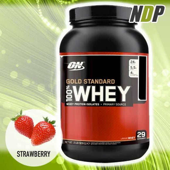 Optimum Nutrition /// Gold Standard Whey - Strawberry (2lbs)