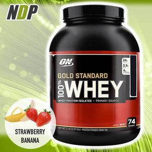 Optimum Nutrition /// Gold Standard Whey - Strawberry Banana (5lbs)