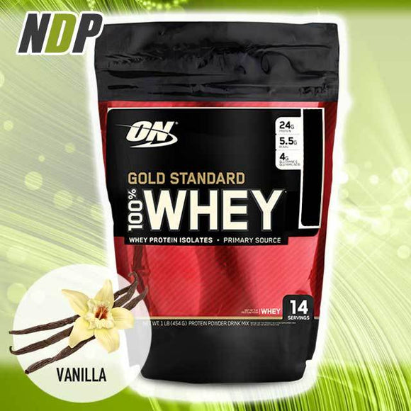 Optimum Nutrition /// Gold Standard Whey - Vanilla Ice Cream (1lbs)