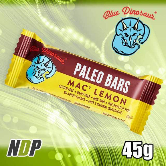 Mac' Lemon /// Paleo Bar - Blue Dinosaur (45g)