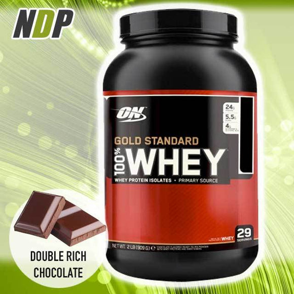 Optimum Nutrition /// Gold Standard Whey - Double Rich Choc (2lbs)