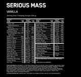 Optimum Nutrition /// Serious Mass - Vanilla (12lbs)