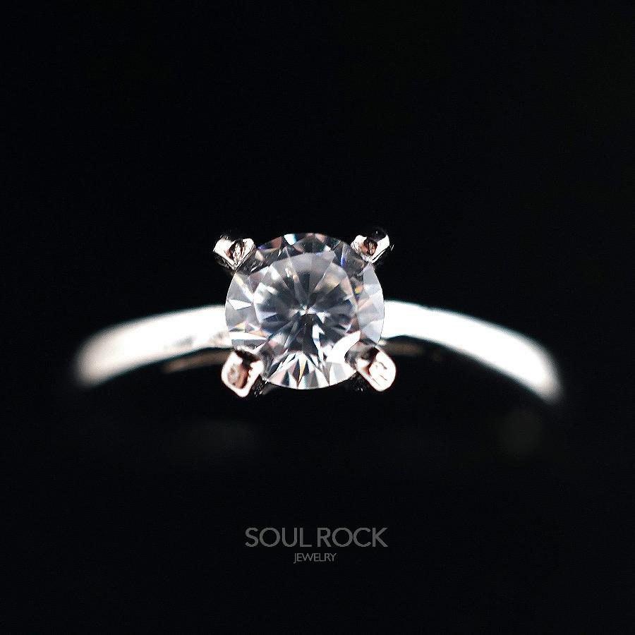 Classic Four Claw Solitaire Ring