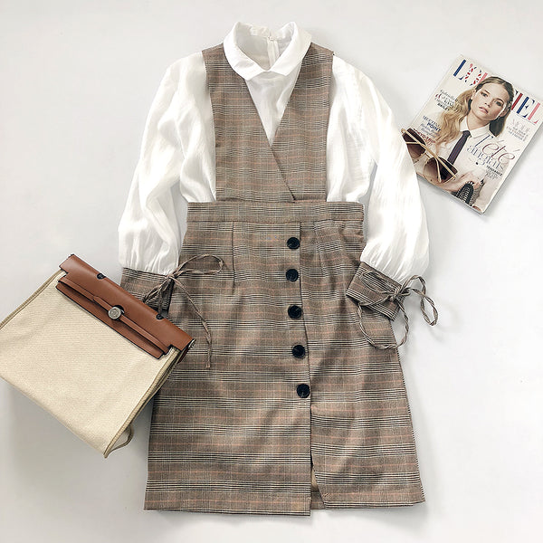 Chloe plaid set (size S)