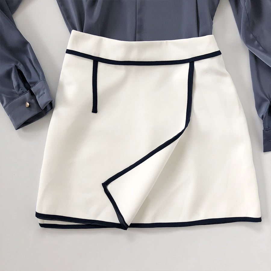 overlap mini skirt