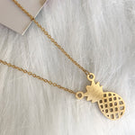lucky pineapple stainless steel necklace