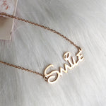 Smile Stainless steel necklace