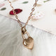 heart lock stainless steel necklace