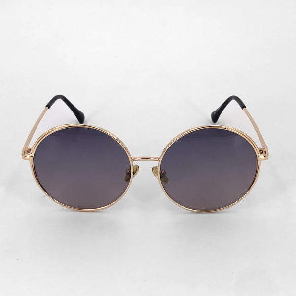 Becky oversized round polarized sunglasses