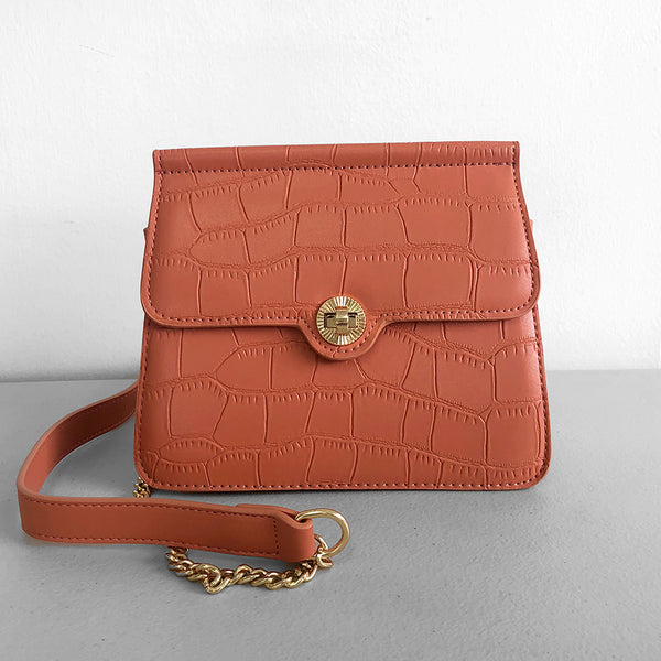 Shelby croc embossed crossbody bag