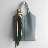 Athena leather tote bag