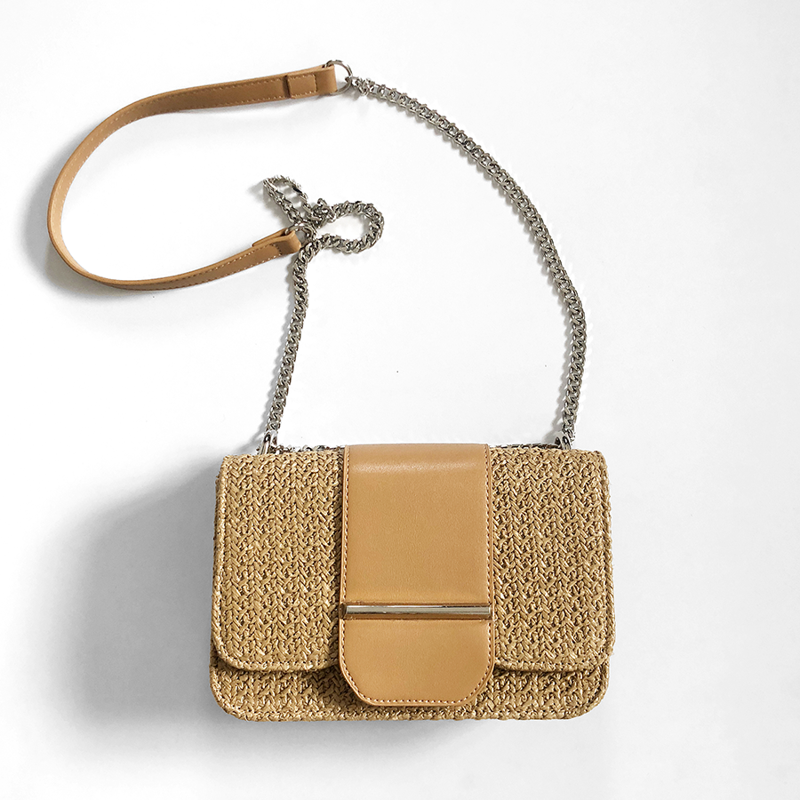 Polly straw sling bag
