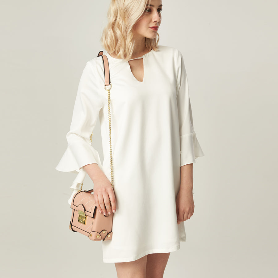 Meq swirl sleeves dress