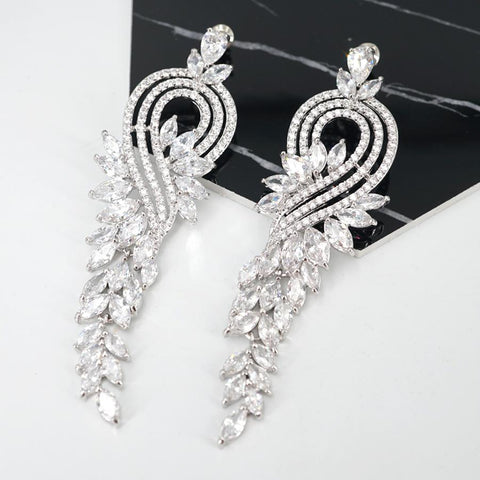 venus cubic zirconia earrings