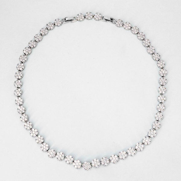 Melissa cubic zirconia round necklace