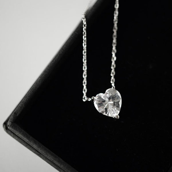 925 heart pendant necklace