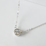 925 solitaire diamond necklace