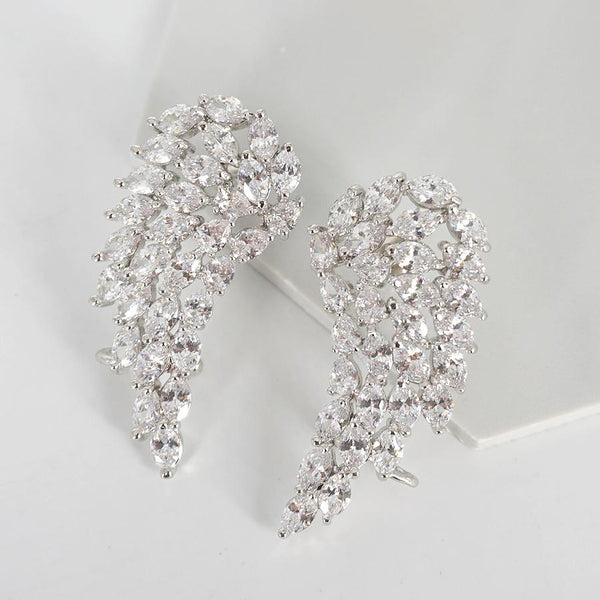 Wings cubic zirconia earrings